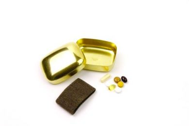 Brass Pill Case with Band