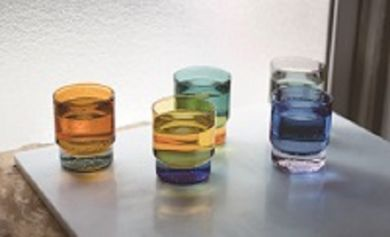 Two Tone Stacking Glass